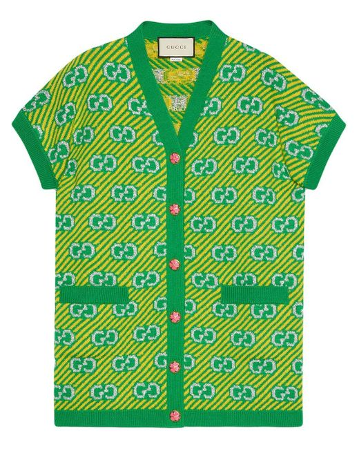 Gucci GG ジャカード ベスト Green