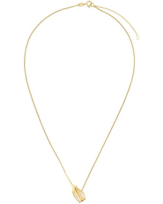 Wouters & Hendrix | Metallic 18kt Yellow Gold 'crow's Claw' Rutilated Quartz Necklace | Lyst