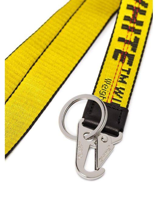 Off-White c/o Virgil Abloh Sleutelhanger Met Logo in het Yellow voor heren