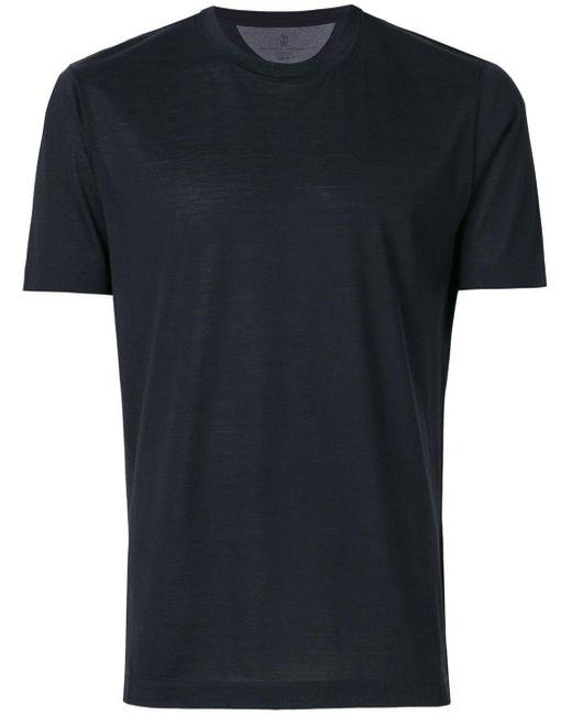 メンズ Brunello Cucinelli ラウンドネック Tシャツ Black