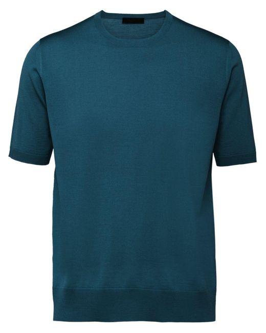 メンズ Prada ウール クルーネック セーター Blue