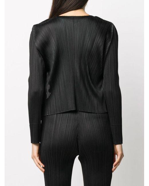 Плиссированный Жакет Pleats Please Issey Miyake, цвет: Black