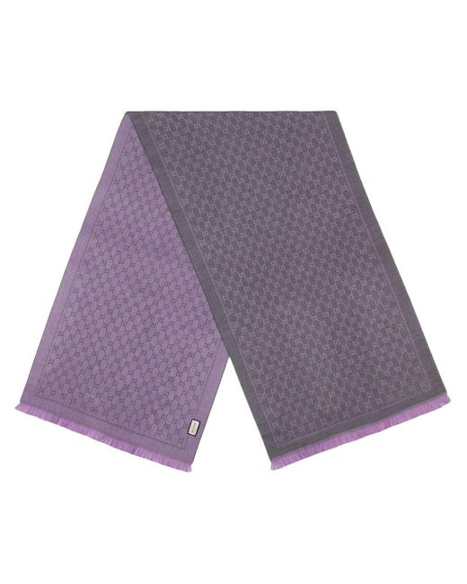 Gucci ジャカード スカーフ Purple