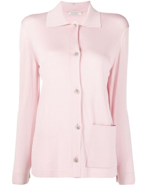 Nina Ricci Pink Single Patch-pocket Cardigan