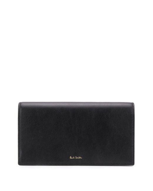 Paul Smith Black Bi-fold Continental Wallet
