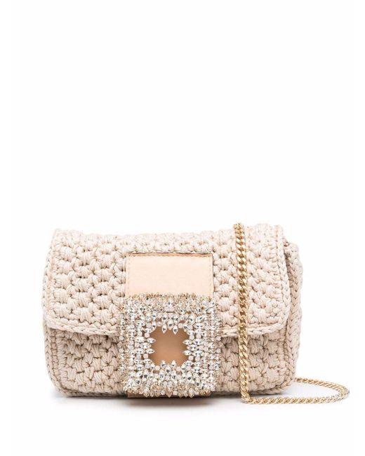 Gedebe Natural Kleine Strick-Handtasche mit Schnalle
