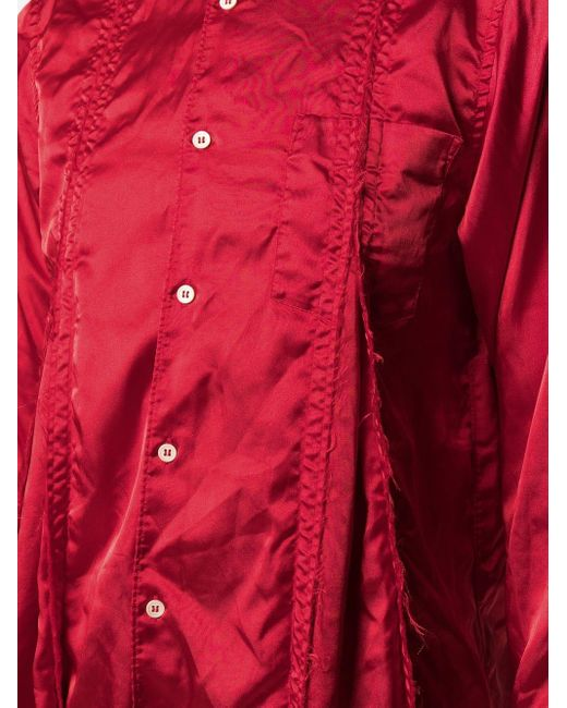 Comme des Garçons サテンシャツ Red