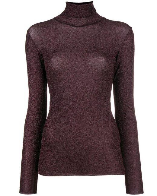 Faith Connexion - Purple Lurex Turtleneck Sweater - Lyst