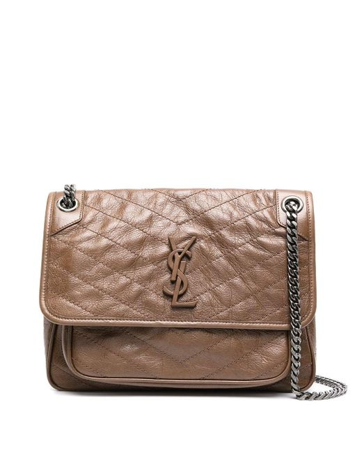Saint Laurent Brown Niki Medium Shoulder Bag