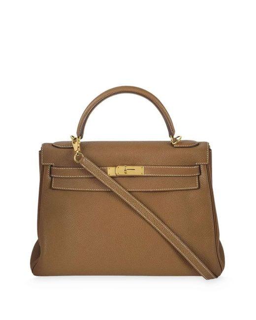 Hermès プレオウンド ケリー 32cm Ghw ハンドバッグ Brown