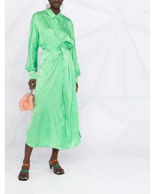 MSGM フローラル ジャカードシャツドレス Green