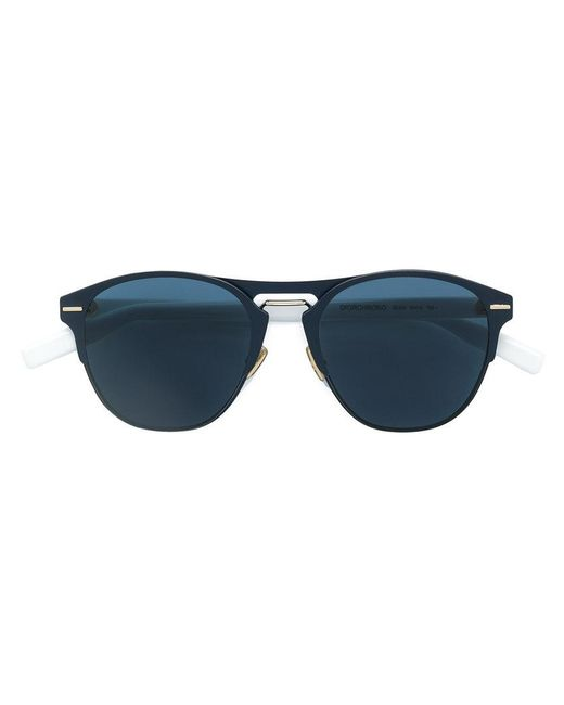 Dior - Black Round Framed Tinted Sunglasses for Men - Lyst