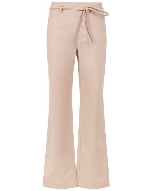 Egrey Tie Detail Flared Pants Natural