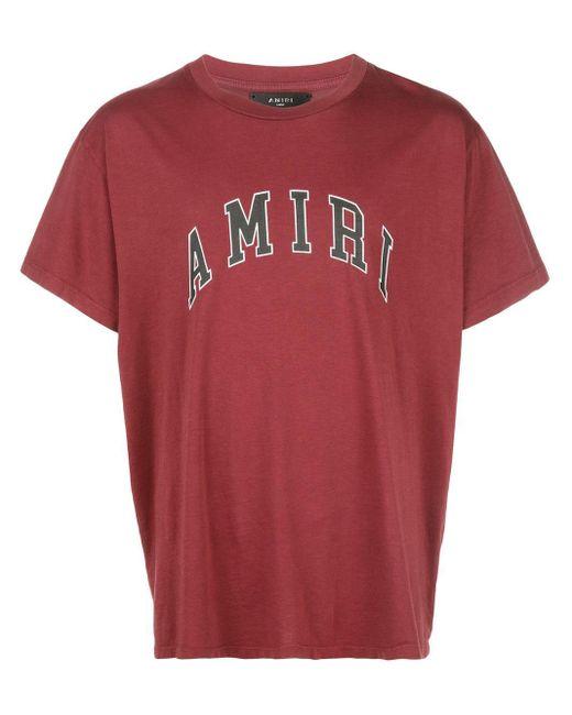 メンズ Amiri ロゴ Tシャツ Red