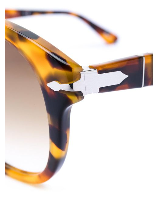 Persol Women's Brown Round-frame Sunglasses
