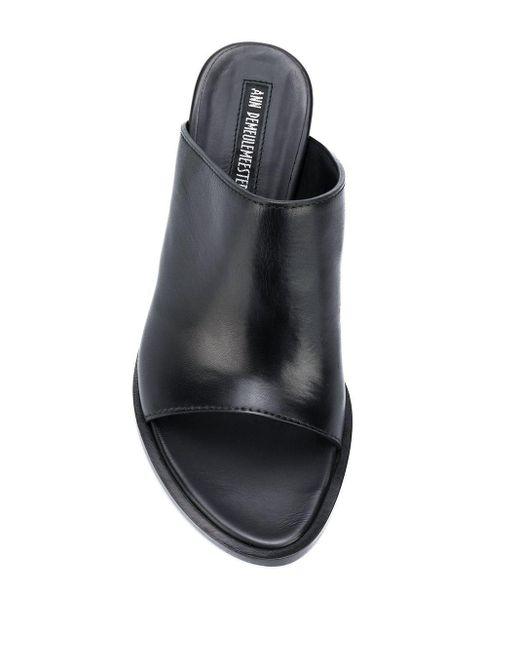 Босоножки На Каблуке Ann Demeulemeester, цвет: Black