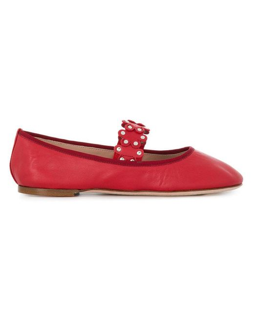 e25cb8996a61 RED Valentino Red(v) Ballerina Flats in Red - Lyst