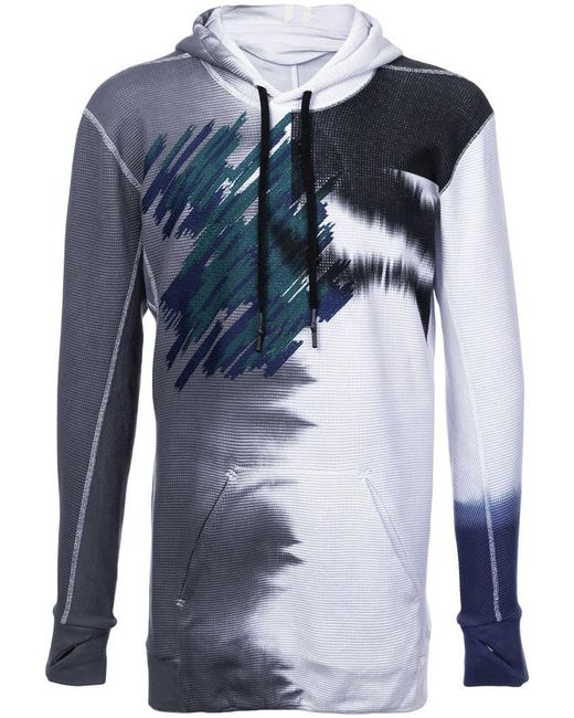 Boris Bidjan Saberi 11 - Blue Abstract Print Hoodie for Men - Lyst