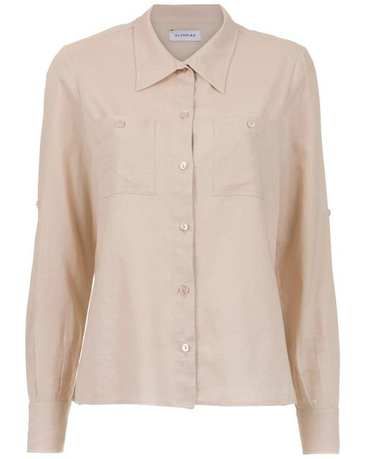 Olympiah Camisa Verona de lino de mujer k4d6x