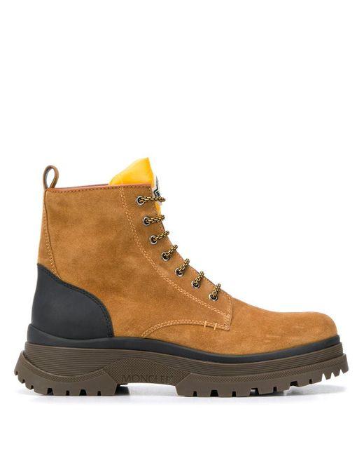Moncler Brown Ulysse Lace-up Boots for men