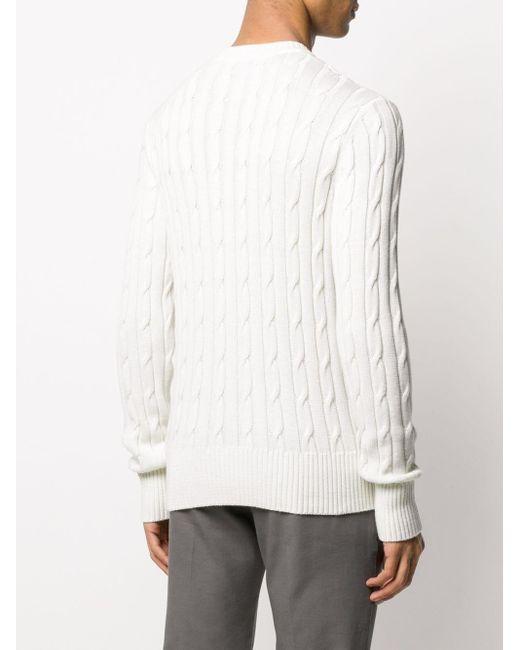 メンズ AMI ロゴ セーター White