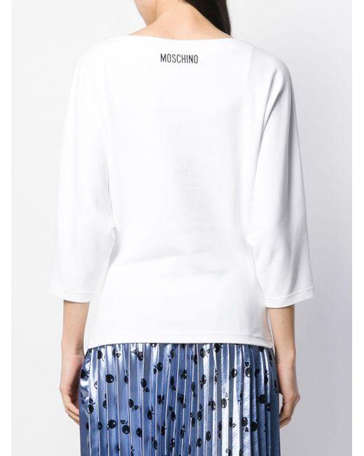Moschino Pumpkin Face スウェットシャツ White