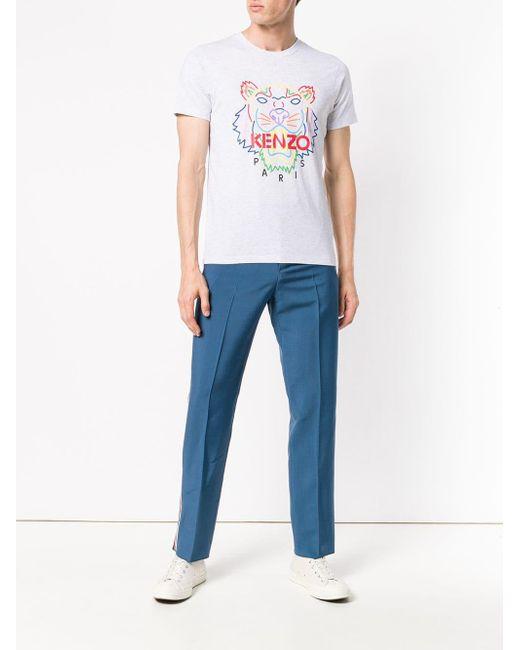 KENZO Tiger プリント Tシャツ Gray