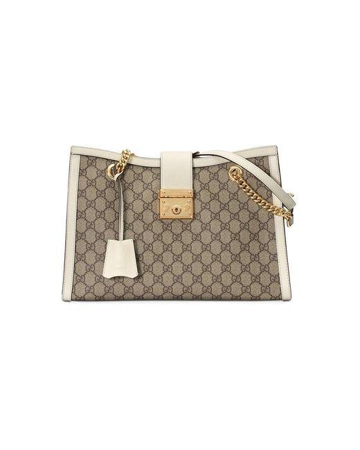 4b7474b64147 Gucci - Multicolor Padlock Medium GG Shoulder Bag - Lyst ...