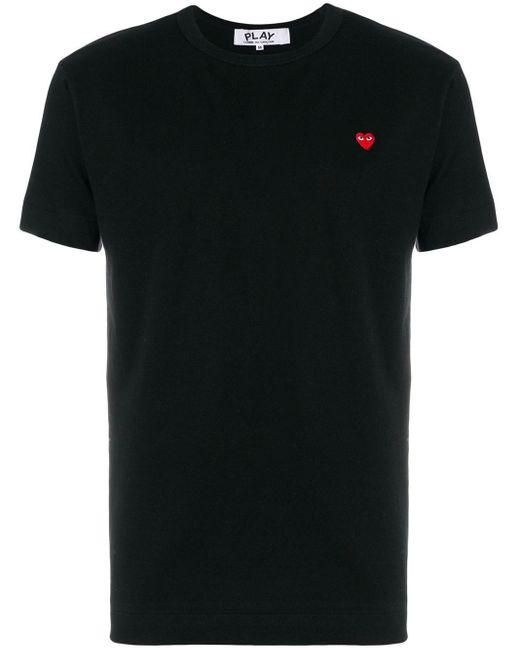COMME DES GARÇONS PLAY Black Heart Patch T-shirt for men
