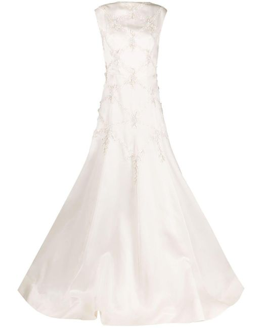 Parlor ノースリーブ イブニングドレス White