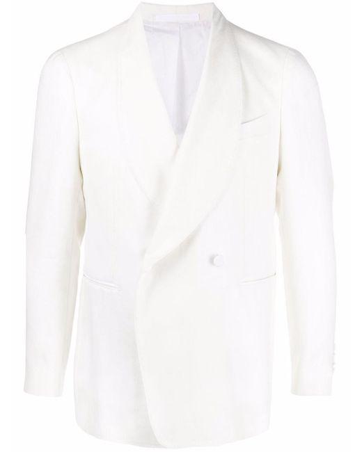 Veste de smoking croisée à col châle Tagliatore pour homme en coloris White