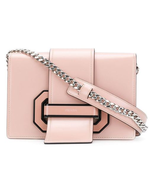 Prada - Pink Flap Crossbody Bag - Lyst