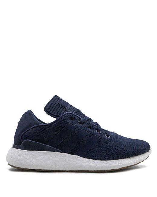 メンズ Adidas Busenitz Pureboost Primeknit スニーカー Blue