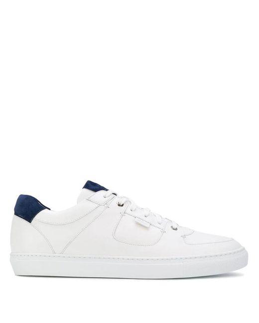 Brioni Sneakers mit Schnürung in White für Herren