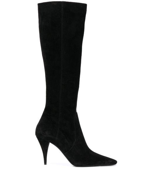 Saint Laurent Black Knee-high Boots