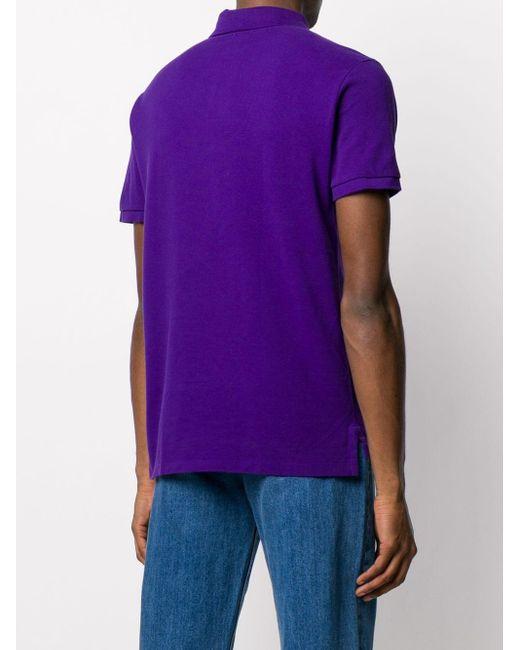 メンズ Polo Ralph Lauren ロゴエンブロイダリー ポロシャツ Purple