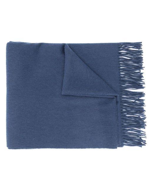 メンズ Mulberry チェック スカーフ Blue