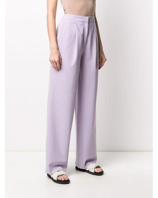 Chinti & Parker フレアパンツ Purple