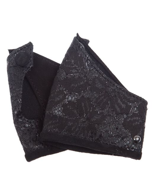 Corlette   Black Leather Cuff   Lyst