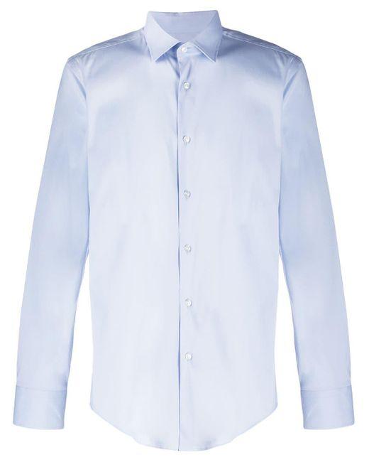 メンズ BOSS スリムフィット シャツ Blue