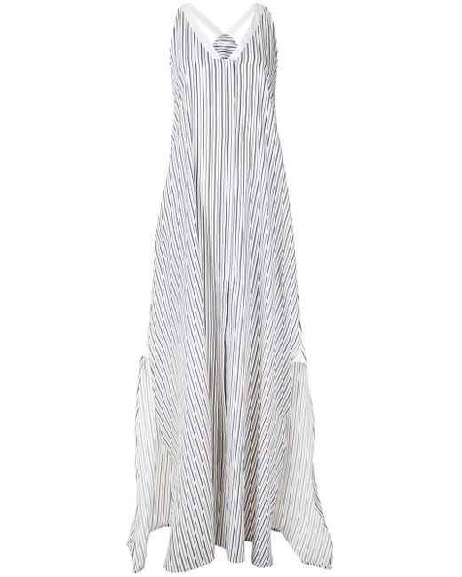 Rosetta Getty ストライプ ルースドレス White