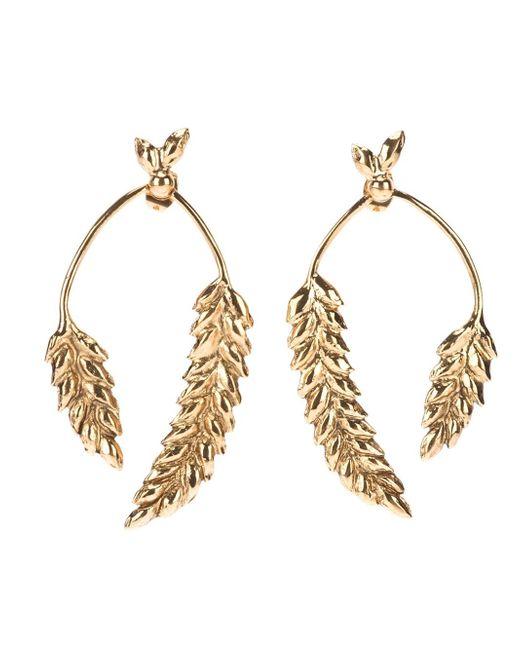 Aurelie Bidermann | Metallic 'wheat' Earrings | Lyst