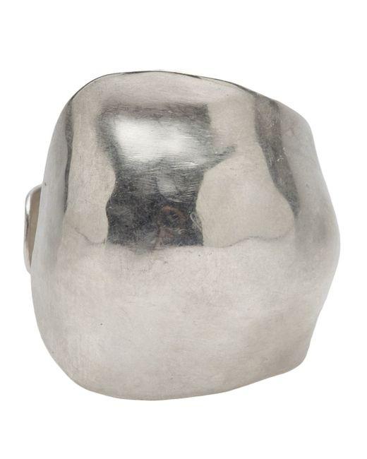 1-100 | Metallic Silver Cuff | Lyst