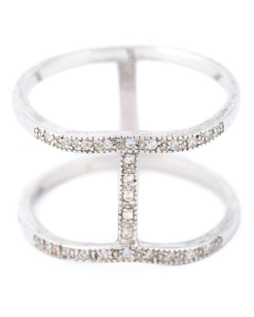 V Jewellery | Metallic 'spine' Ring | Lyst