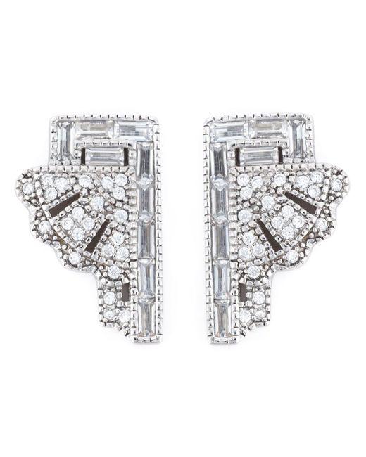 V Jewellery | Metallic 'deco Fan' Earrings | Lyst