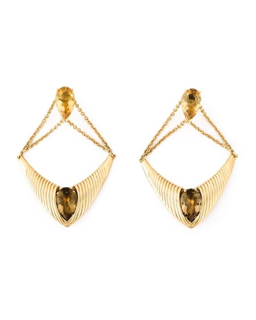 Shaun Leane | Metallic 'bound' Champagne Quartz Earrings | Lyst