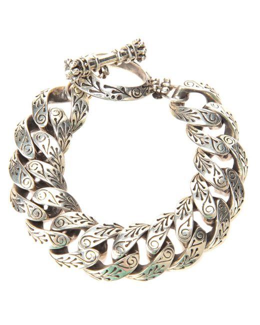 King Baby Studio   Gray Engraved Link Bracelet   Lyst