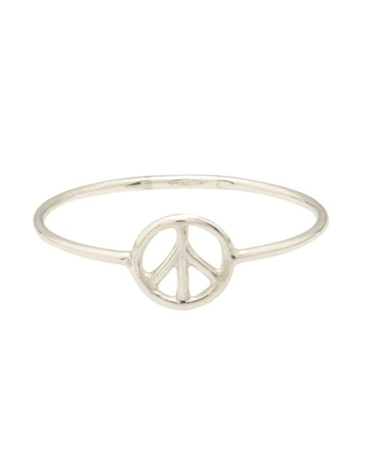 Aurelie Bidermann | Metallic Thin Peace Ring | Lyst