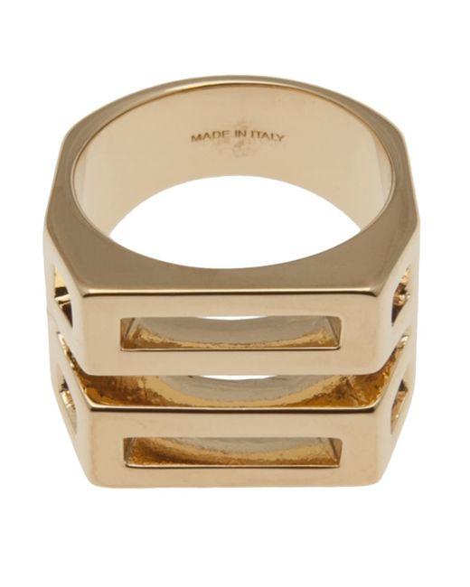 Chloé   Metallic Chloé Chunky Cut-out Ring   Lyst
