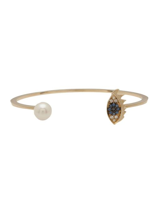 Delfina Delettrez | Metallic 'eye Piercing' Diamond And Sapphire Bangle | Lyst